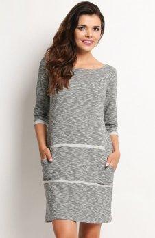 Awama A116 sukienka szara