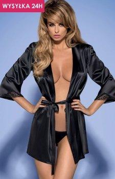Obsessive Satinia robe black komplet