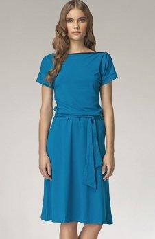 *Nife S13 sukienka niebieska