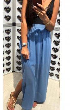 Długa spódnica z tiulem niebieska