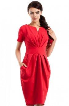 Moe MOE234 sukienka czerwona