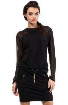 Moe MOE206 sukienka czarna