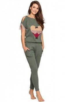 Pigeon P-577/2 dwuczęściowa piżama damska khaki