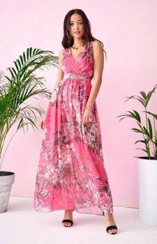 Szyfonowa długa sukienka letnia kolorowa 0209 U72