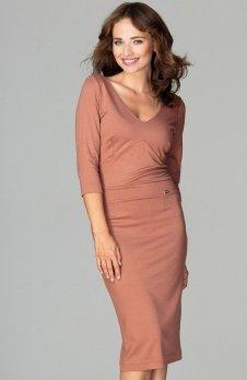 Lenitif K476 sukienka brązowa