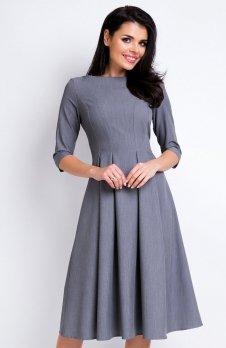 Awama A159 sukienka szara