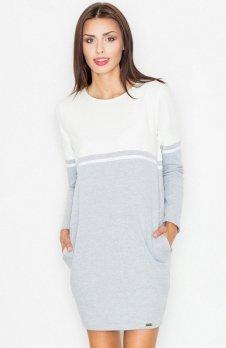 Figl M510 sukienka szara