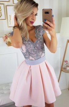 Bicotone 2139-33 sukienka jasny róż