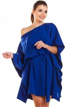 Kimonowa niebieska sukienka M196