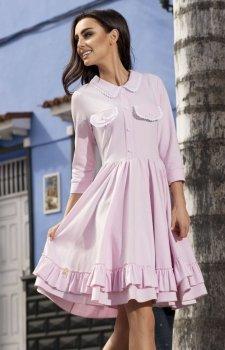 Leminiade L235 sukienka pudrowy róż