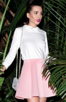 Katrus K268 spódnica różowy