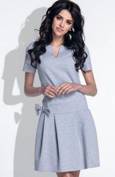 *Fobya F374 sukienka szara