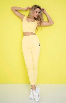 Sportowy komplet dresowy limonka 402-09