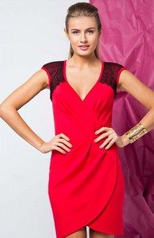 Cover GR1273 sukienka czerwona