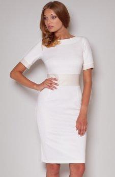 Figl M204 sukienka ecru