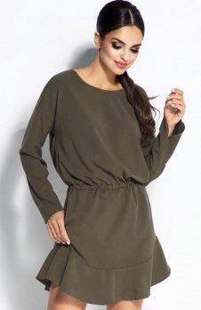 Dursi Flo sukienka oliwkowa