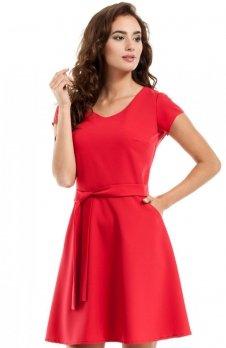 Moe MOE246 sukienka czerwona