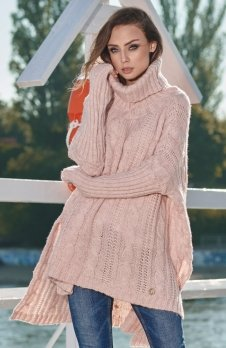 Lemoniade LS215 sweter pudrowy róż
