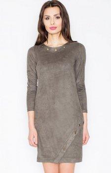 Figl M455 sukienka oliwkowa