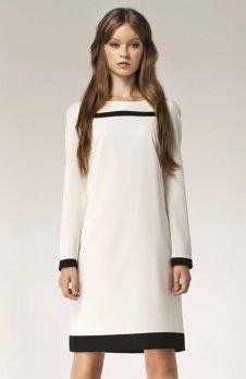 Nife S40 sukienka ecru