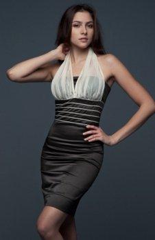 Vera Fashion Bella sukienka brązowa