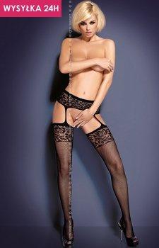 Obsessive Garter stockings S500 pończochy kabaretka
