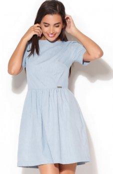 Katrus K164 sukienka błękitna