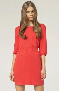Nife S49 sukienka koralowa