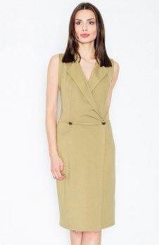 Figl M443 sukienka oliwkowa