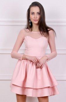 Roco 0228 sukienka pudrowy róż