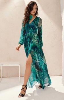 Długa sukienka w kwiaty 0219/U79