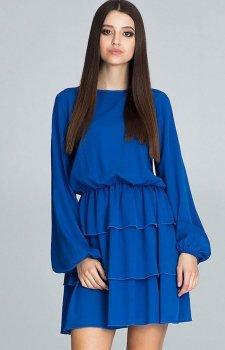 Figl M601 sukienka chabrowa