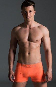 EXZO bokserki męskie mikrofibra pomarańczowy neon