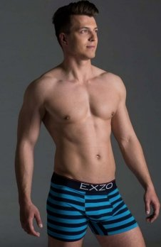 EXZO bokserki Pasy niebiesko-granatowe
