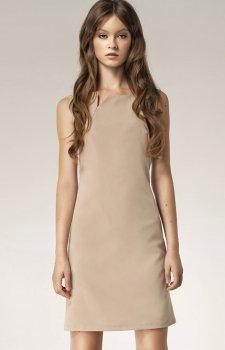 Nife S37 sukienka beżowa