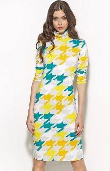 Nife S56 sukienka pepitka