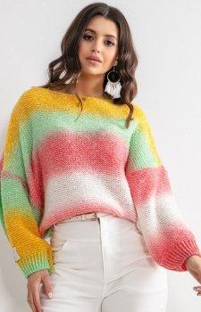 Pastelowy oversizowy sweter thaiti F1162