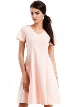 Moe MOE233 sukienka pudrowy róż