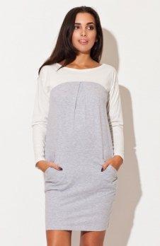 Katrus k106 sukienka szara