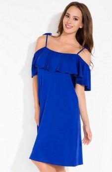 Fobya L115 sukienka chabrowa