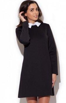 Katrus K245 sukienka czarny