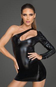 Asymetrycza sukienka powerwetlook F199