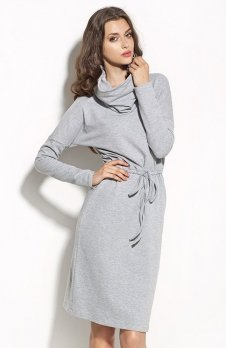 Nife S57 sukienka szara