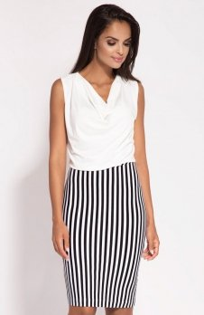 Dursi Zino sukienka czarno-biała