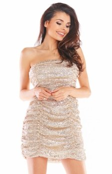 Kobieca mini sukienka A401