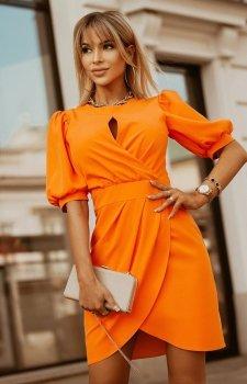 Bicotone sukienka wizytowa z bufkami 2221-07