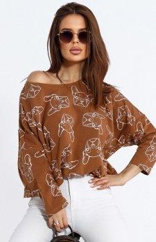 Oversizowa bluza w buldogi 103-10