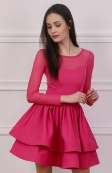 Roco 0228 sukienka różowa