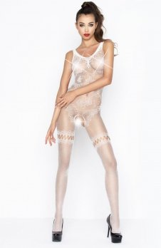Passion BS045 bodystocking białe