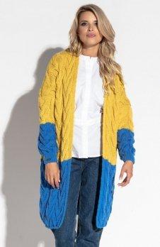 Fobya F571 sweter musztardowy